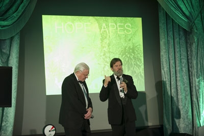 Hosts Sir David Attenborough and Ian Redmond OBE